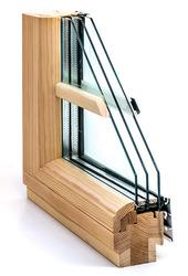 Дерево-алюминиевые окна из сосны с Европы Астана